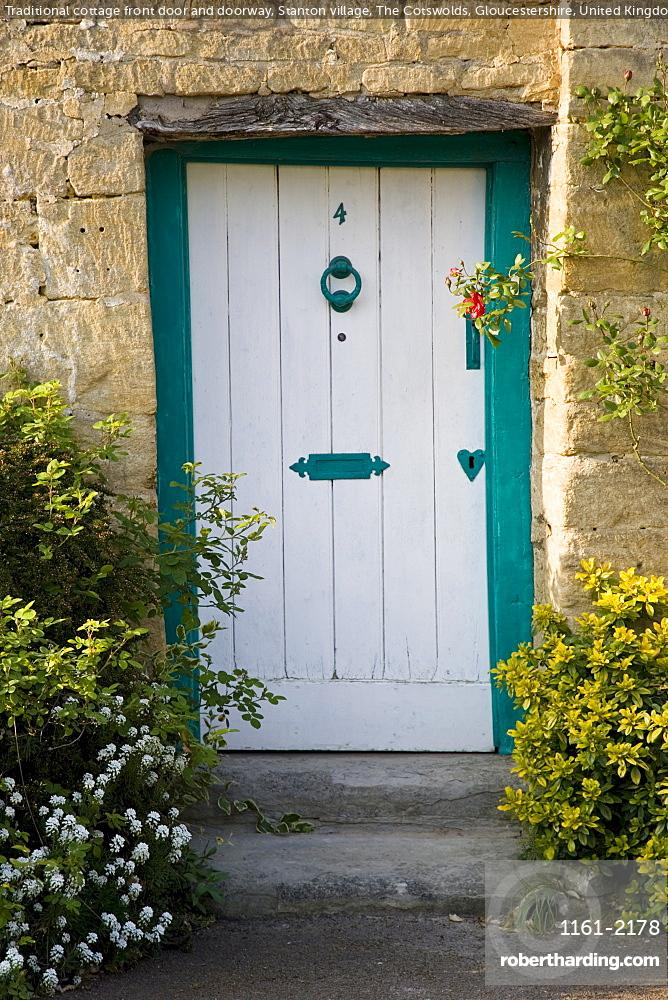 Traditional Cottage Front Door And Stock Photo