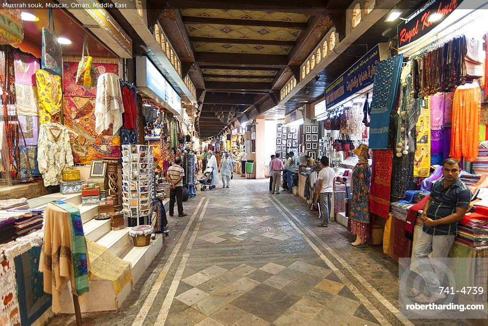 Muttrah souk, Muscat, Oman, Middle | Stock Photo